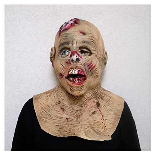 2 Am Kostüm Besten Face - XIN1993 Halloween Horror Vampire Zombie Maske/Monster Face Kopfbedeckung/Bald Face Latex Maske