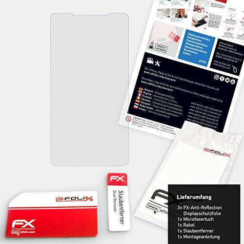 atFoliX Película Protectora para Leagoo M8 Pro Lámina Protectora de Pantalla - 3 x FX-Antireflex anti-reflectante Protector Película
