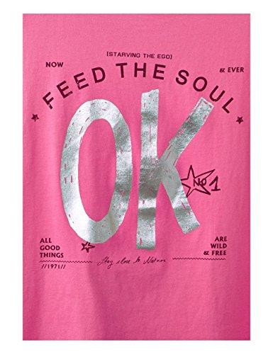 Street One T-Shirt Donna Mehrfarbig (Flamingo Pink 31272)