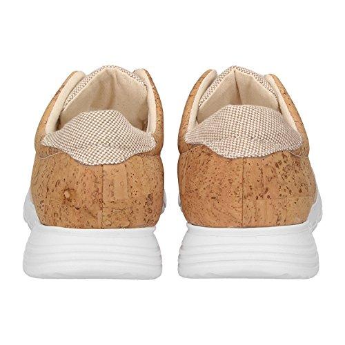 ZWEIGUT Hamburg- Echt #408 vegane Kork-Sneaker mit Flexibler Laufsohle Unisex Schuhe, Schuhgröße:42, Farbe:Beige-Kork - 4