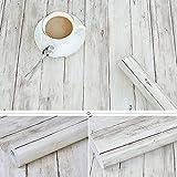 Tablones de madera rústicos decorativos Contacto de papel Auto adhesivo Estante de vinilo...