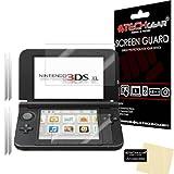 TECHGEAR [2 Stück Displayschutz für Nintendo 3DS XL 2014 - Ultra Klare Schutzfolie für Nintendo 3DS XL [Oben + Unten] - mit Reinigungstuch + Applikationskarte