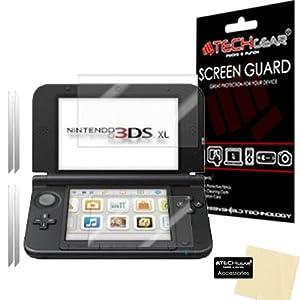TECHGEAR [2 Stück Displayschutz für Nintendo 3DS XL 2014 – Ultra Klare Schutzfolie für Nintendo 3DS XL [Oben + Unten…