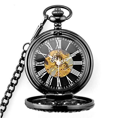 Taschenuhr, Mechanische Taschenuhr und Kette für Herren, Steampunk Retro Vintage Taschenuhr für Damen Herren