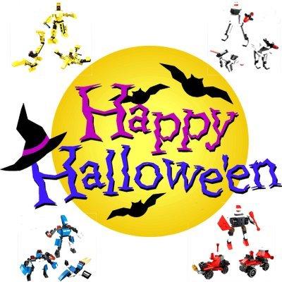 Halloween Party Set für Kinder - Süßes oder Saures - Zum verschenken - Mitgebsel,8x3in1 Baukästen Kompatible Bausteine,mit anderen Marken kombinierbar
