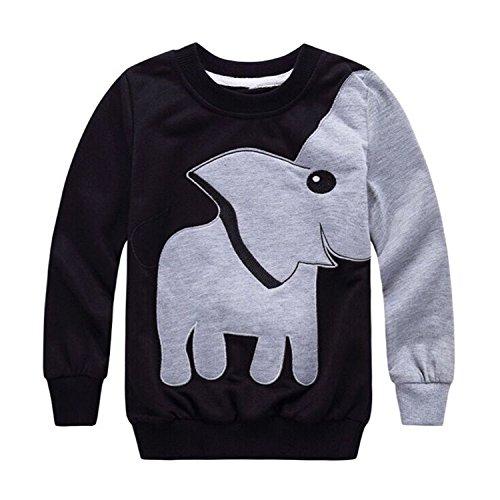 Jungen Kinder Baumwolle Sweatshirt Elefant Langarmshirt Pullover Top 98 104 110 116 122 128 134 -