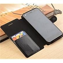 Prevoa ® 丨Umi Emax Funda - Flip PU Funda Cover Case para Umi Emax 5,5 Pulgadas Smartphone - Negro