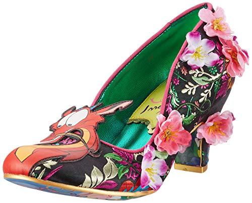 Irregular Choice Let Dreams Blossom, Zapatos de tacón con Punta Cerrada para Mujer, Negro (Black/White B), 38 EU