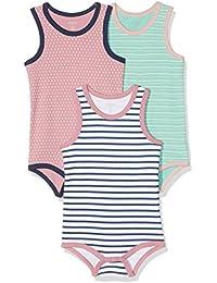 Care Baby Girls Bodysuit, Sleeveless, 3-Pack
