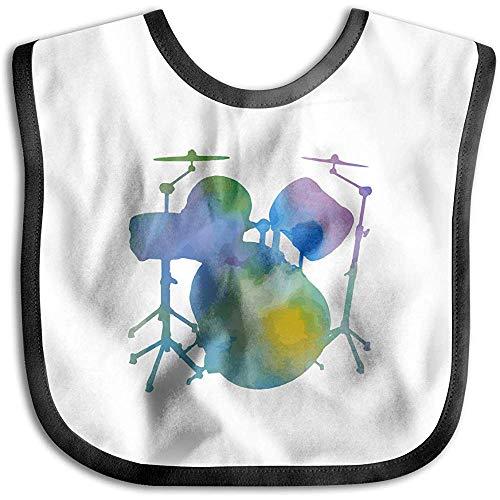 Drums Colourful Baby Bandana Drool Lätzchen, Weiche und saugfähige Beißringe Skin Wrap Lätzchen Organic Cotton Front | Leicht abwischbar