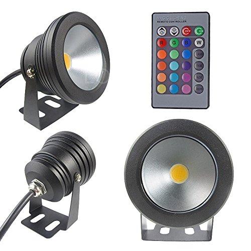 Unterwasser-LED-Flutlicht, 10 W, 12 V, Aluminium, RGB, Flat lens 10.0watts 12.0volts - Flat Rgb Led