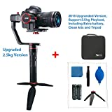 Feiyu a2000 (4pcs Extra batteries,Bracer and Tripod) 3 Axis Handheld Stabilizer 360 Degree Unlimited Rotation for Sony A
