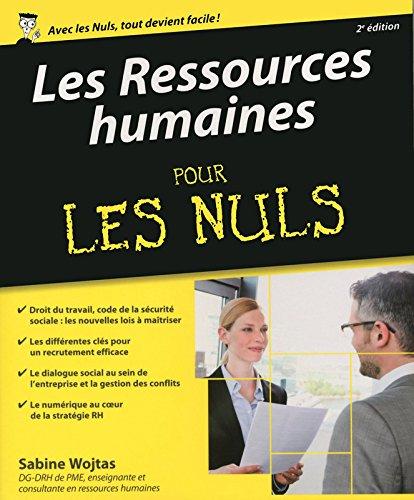 Les ressources humaines pour les nuls par Sabine Wojtas