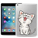ZhuoFan Cover per iPad Mini 4, Custodia Cover Silicone Trasparente con Disegni Slim Antiurto TPU Morbido Bumper Case Protettiva per Apple iPad Mini 4 Tablet, Gatto