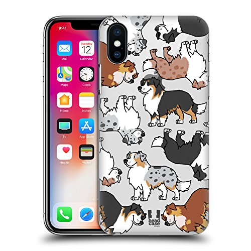 Head Case Designs Dachshund Hunderasse Muster 3 Ruckseite Hülle für Apple iPhone 5 / 5s / SE Australian Shepherd