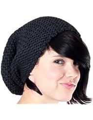 Bonnet long gris foncé - bonnet tendance tricoté, chapeau tricoté unisexe hommes femmes, 2014, Ski Snowboard Hat Cap Croco 251