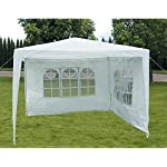 Slimbridge Wakehurst 3 x 3 Metres Fully Waterproof Gazebo Tent Marquee Awning Canopy without Side Panels with Powder Coated Steel Frame for Outdoor Wedding Garden Party, White 6