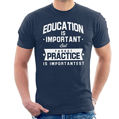 Coto7 Education is Important but Target Practice is Importantest Men's T-Shirt - Airsoft Guns Scifi