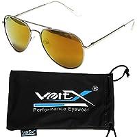 VertX Maschile Polarizzati Aviator Occhiali da Sole a Goccia Classico Colore Specchio