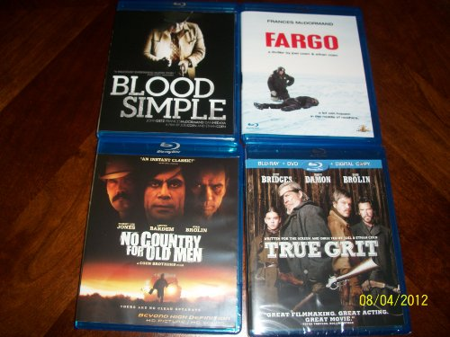 Blood Simple, No Country for Old Men, Fargo, True Grit