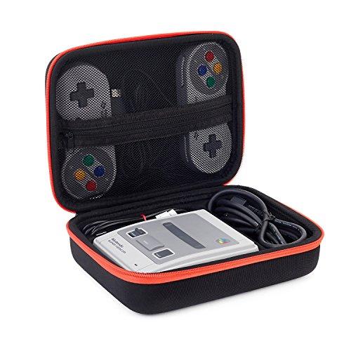 SNES Classic Mini Tasche, Opaza Tragbare Reise Mini Case für Super Nintendo NES Classic Edition Konsole (2017), 2 Controller, HDMI Kabel und weiteres Zubehör