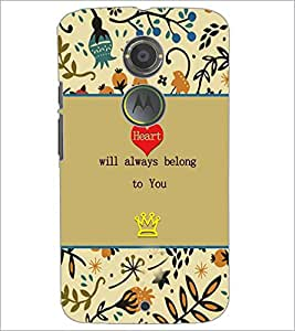 PrintDhaba Quote D-3670 Back Case Cover for MOTOROLA MOTO X2 (Multi-Coloured)