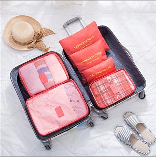 Swallowuk Reisepaket Tasche 6 Sätze, Reise Kleidung Koffer Finishing Beutel (12) 15