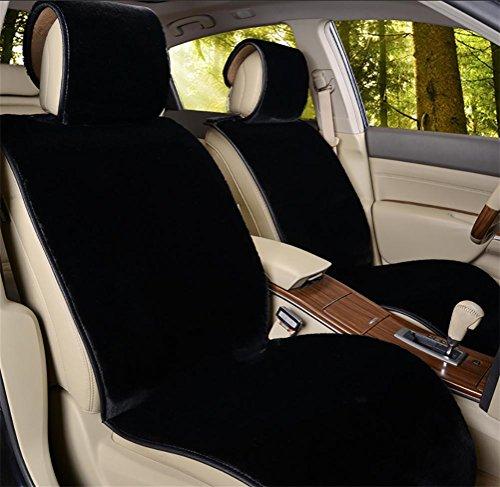 GAOFEI Schaffell Sitzbezüge Soft Plüsch Wolle Sitz Matte Anti-Rutsch-Abdeckung für die meisten Auto, LKW, SUV oder Van (Für Schaffell Lkw Sitzbezüge)