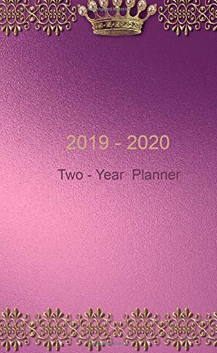 "2019 - 2020: Two-Year Monthly Pocket Planner: 24-Month Calendar , Notes and Phone book, U.S. Holidays, Size : 4.0"" x 6.5"", Hand Lettering Workbook ( Gold on Purple )"