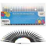 Best Coloring Brush Pen Sets - Professional Watercolour Paint Brush Pens 24 Pack Review