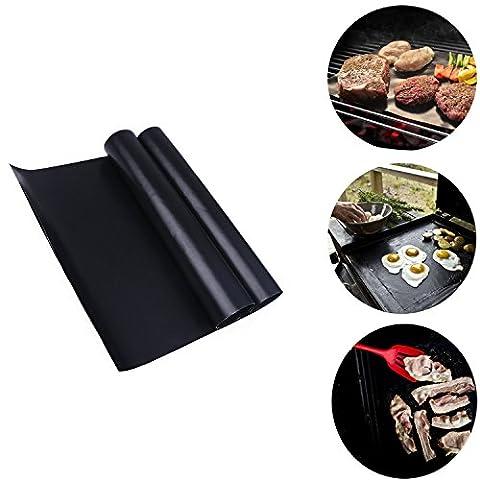 Abimars de grille pour barbecue anti-adhérente réutilisable Tapis de cuisson