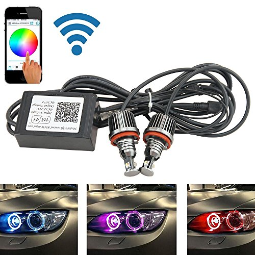 Angel Eyes Rgb (H8 WiFi Steuerung LED Marker Angel Eyes Halo Ringe RGB andere E92 Coupe (pre-lci) 328i 328 x i 335d 335i 335is M3 E60)