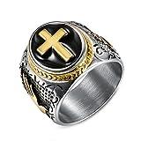 Männer Europäischen Und Amerikanischen Wiederholen Gottes Hand Kreuz herrschsüchtig Ringe,Größe 72(22.9)