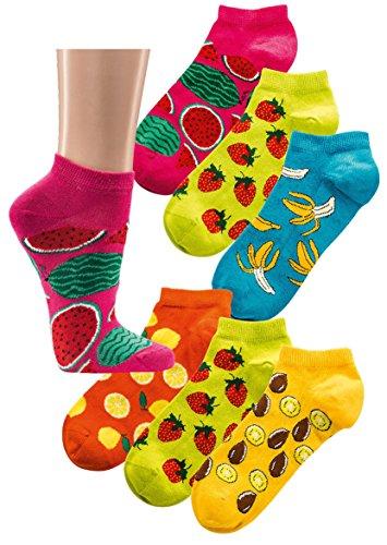 socks-pur-damen-and-teenager-harmony-sockchen-39-42-2138-bunte-fruchte-nur-in-sortierung-6er-pack