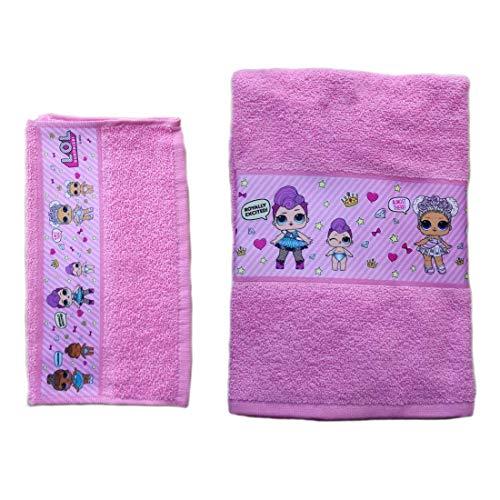 Lol Surprise Set Asciugamani Bagno Bambina Colore Rosa Set