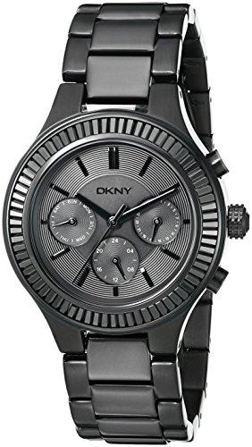 DKNY WOMEN'S 38MM BLACK IP STEEL BRACELET & CASE QUARTZ ANALOG WATCH NY2397