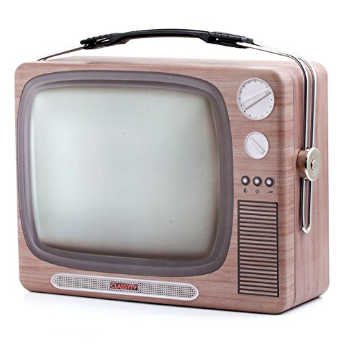 Preisvergleich Produktbild Retro TV Brotdose - Fernseher Vesperdose TV-Gerät Vesperbox Nostalgie Brotzeitdose