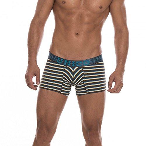 mens-trunks-boxer-shorts-grey-white-blue-yellow-striped-board-short-leg-comfort-quality-xl