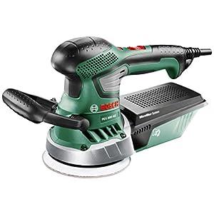 Bosch PEX 400 AE – Lijadora excéntrica, diámetro 125 mm, 350 W, color negro y verde