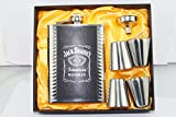 #3: KARP™ Jack Daniel's 8oz Hip Flask / 4 Shot Glass / 1 Funnel Set - Style 5