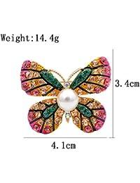 Brosche großer Schmetterling mit Strass Farbe wählbar