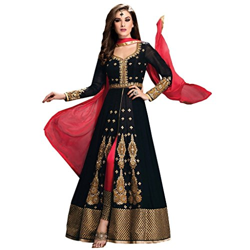 Jay Sarees Traditional Ethnic Casual Salwar Suit Anarkali Unstitched - Jccat3025-1404