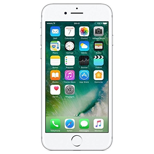 "Apple iPhone 7 - Smartphone DE 4,7"" con Tecnología IPS (Chip A10 Fusión, Cámara Dual 12 MP, IP67) Color Plata [Reacondicionado Certificado por Apple]"