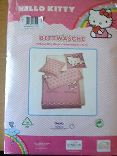 Kinder Bettwäsche Hello Kitty Bezug 135x200cm Kissen 80x80cm