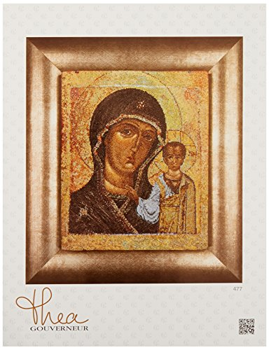 Thea Gouverneur TG477A Kreuzstich-Zählmuster-Set, 18-fädig, 22,9 x 27,9 cm, Ikone Jungfrau von Kazan auf Aida - Kreuzstich-thea Gouverneur