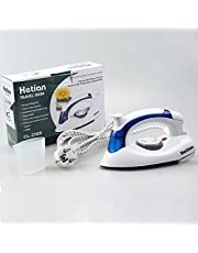 Cartshopper Travel Portable Powerful Variable Temperature Mini Electrical Steam Iron With Foldable Handle, Compact & Lightweight (White)
