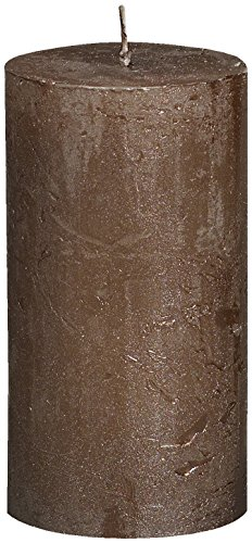 Rustikal 103667640384Metallic Stumpenkerze, Paraffin Wachs, braun kupfer (Rustikale Kupfer-finish)