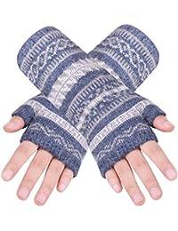 38159 caripe Damen Herren Armstulpen Stulpen Fleece Handschuhe fingerlos