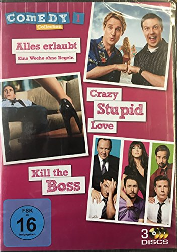 Alles erlaubt + Crazy Stupid Love + Kill the Boss / Comedy Collection 1 / 3 Filme [3 DVDs]