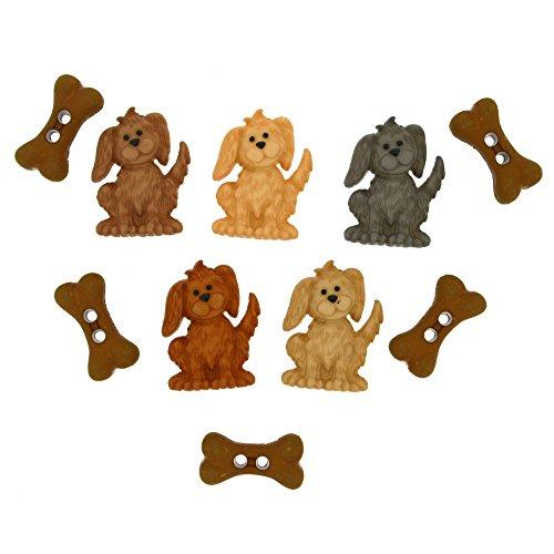 Jesse James Buttons (Jesse James Dress it up Embellishments-give Hund einen Knochen, andere, Mehrfarbig)